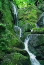 Green hill waterfall Royalty Free Stock Photos