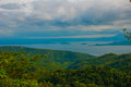 Green hills, mountain, water. Philippines Royalty Free Stock Photo
