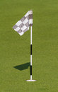 Green and hole flag for putting practice Royalty Free Stock Photos