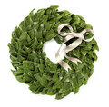 Green holiday wreath Royalty Free Stock Image