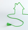 Green home energy Royalty Free Stock Images