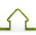 Green home symbol Royalty Free Stock Image