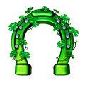 Green Horseshoe Royalty Free Stock Photo