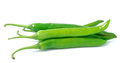 Green hot chili pepper on white background Royalty Free Stock Photo