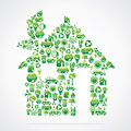 Green house is design with eco nature icons Stock Photography