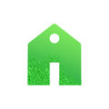 Green house , home icon , bio ecology , isolated