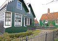 Green houses in zaanse schans museum netherlands Stock Photo