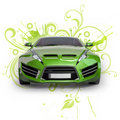 Green hybrid car Royalty Free Stock Photography