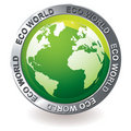 Green icon eco earth globe Stock Photo
