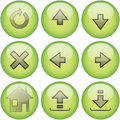 "Green icon set â""–2 Royalty Free Stock Photos"