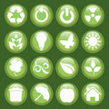 Green icon set Royalty Free Stock Images