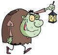Green Igor carrying a lantern Royalty Free Stock Photography