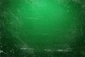 Green illuminated chalk board illustration of a with scratches Stock Photo