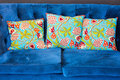 Green indian style cushions Royalty Free Stock Photo