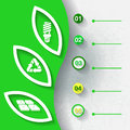 Green infograhpic background with symbols of renewable energy and five labels eps Royalty Free Stock Photography