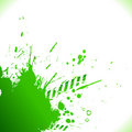 Green inky splash Stock Photo
