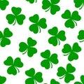 Green Ireland Shamrock Vector Seamless Pattern Art