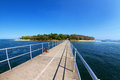 Green island cairns australia jetty at in far north queensland Royalty Free Stock Image