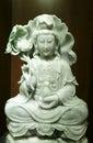 Green jade goddess Royalty Free Stock Photo