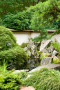 Green japanese garden Royalty Free Stock Photo