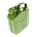Green jerrycan isolated on white background Royalty Free Stock Photography