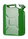 Green jerrycan isolated on white background Royalty Free Stock Images