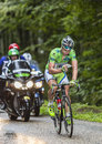 Green jersey peter sagan col de platzerwasel france july the slovak cyclist cannondale team wearing the checks the stage itinerary Royalty Free Stock Photo