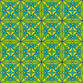 Green jugendstil pattern seamless art noveau wallpaper Royalty Free Stock Images
