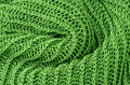Green knitted pullover background Stock Photography