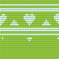 Green Knitted Seamless Pattern...