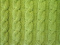 Green knitting texture suitable as background Royalty Free Stock Photography