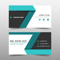 Green label corporate business card, name card template ,horizontal simple clean layout design template , Business banner template Royalty Free Stock Photo