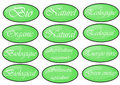 Green labels Royalty Free Stock Photography