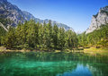 Green lake in styria austria Stock Photo