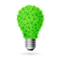 Green lamp made of leaves eco energy source Royalty Free Stock Photos