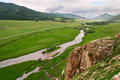 Green landscape of Altay. Royalty Free Stock Photo