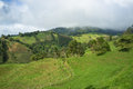 Green landscape in inland costa rican highlands Stock Photography