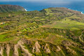 Green landscape of Molokai Royalty Free Stock Photography