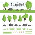Green landscape set