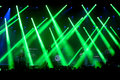Green laser lights at the primal scream band concert at vida festival barcelona jul on july in barcelona spain Royalty Free Stock Photos
