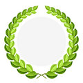 Green laurel wreath Stock Photography