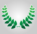 Green laurel wreath , vector