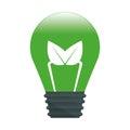 Green leaf bulb image design