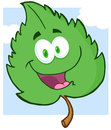 Green Leaf Cartoon Character Stock Photo