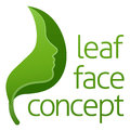 Green Leaf Face Concept Royalty Free Stock Photo