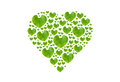 Green leaf in heart shape isolated with clipping paths on white background valentine concept Royalty Free Stock Image
