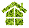 Green leaf house Royalty Free Stock Photography
