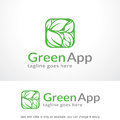 Green Leaf Logo Template Design Vector, Emblem, Design Concept, Creative Symbol, Icon