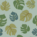 Green leaf pattern ,seamless sketch vector.