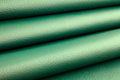 Green leather folds close up of Stock Image